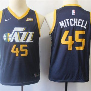 Youth Utah Jazz Donovan Mitchell Navy Jersey